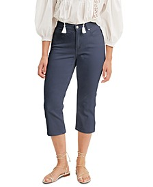 Cropped Mid-Stretch Jeans