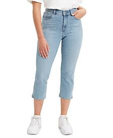 Cropped Mid-Rise Easy-Fit Jeans