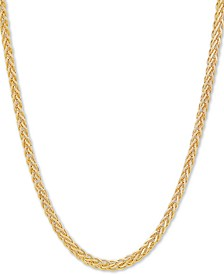 "Round Wheat Link 18"" Chain Necklace in 18k Gold-Plated Sterling Silver"