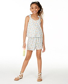 Big Girls Ditsy Floral-Print Romper, Created for Macy's