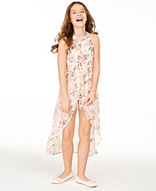Big Girls Floral-Print Walkthrough Romper, Created for Macy's