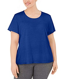 Plus Size Split-Back T-Shirt, Created for Macy's
