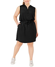 Plus Size Hooded Active Dress, Created For Macy's
