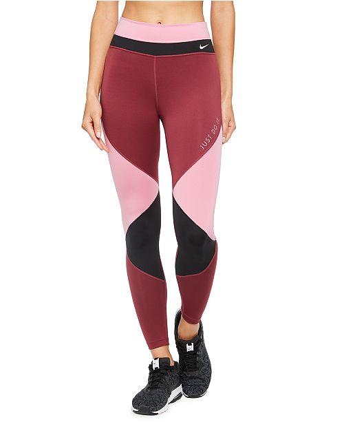 Nike Women's One Dri-FIT Colorblocked Leggings