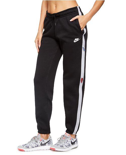 Nike Women's Sportswear Logo Fleece Pants