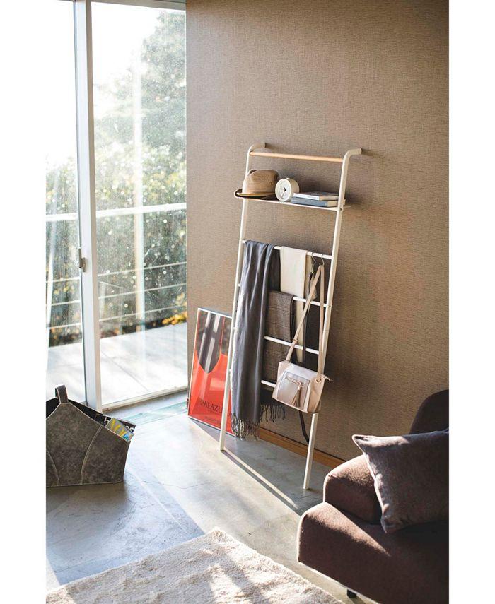 Yamazaki - Tower Leaning Ladder With Shelf