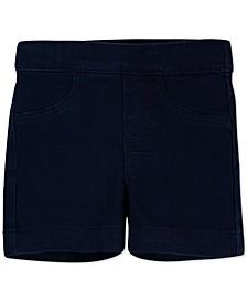 Little Girls Pull-On Denim Shorts