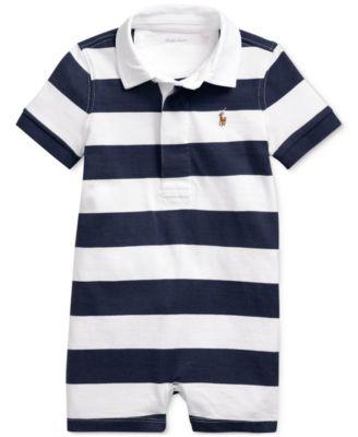 폴로 랄프로렌 Polo Ralph Lauren Baby Boys Striped Cotton Rugby Shortall