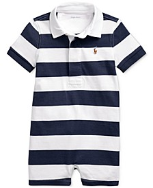Baby Boys Striped Cotton Rugby Shortall