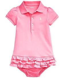 Baby Girls Ruffled Polo Dress & Bloomer
