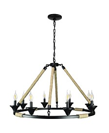 Canyon Home Gothic Wagon Wheel Light Fixture