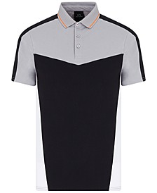 Men's Colorblocked Polo Shirt