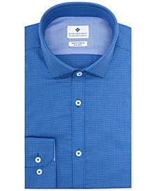 Men's Ultimate Slim-Fit Non-Iron Performance Stretch Blue Multi-Cross Dobby Dress Shirt, Created for Macy's