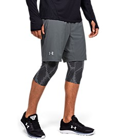Men's Launch SW Long 2-in-1 Printed Shorts