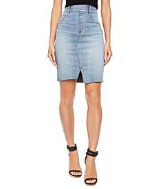 Women's Distressed Denim Skirt