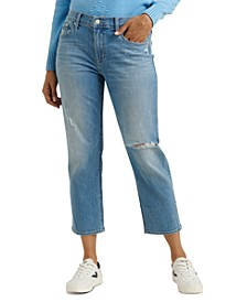 Ripped Slim Boyfriend Jeans