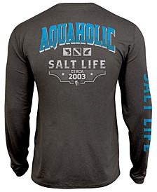 Men's Aquaholic Icons UPF Performance Graphic Long Sleeve T-Shirt