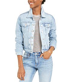 Vigoss Jeans Cotton Distressed Denim Jacket