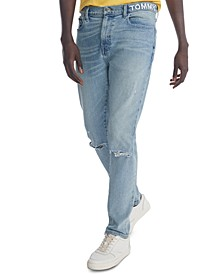 Men's Skinny-Fit Stretch Embroidered Logo Jeans
