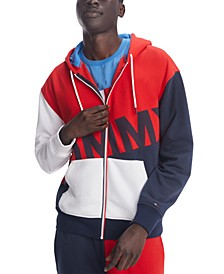 Men's Ziggy Colorblocked Full-Zip Logo Hoodie
