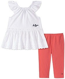 Toddler Girls 2-Pc. Pointelle Eyelet Tunic & Leggings Set