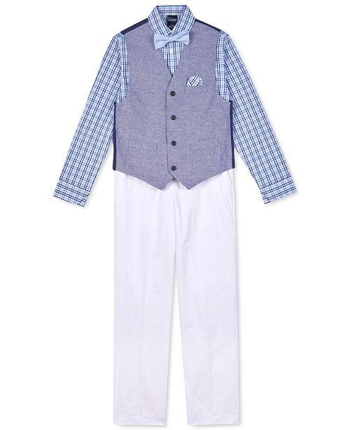 Nautica Little Boys 4-Pc. Basketweave Vest Set