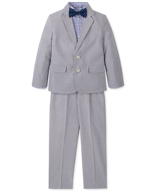 Nautica Toddler Boys 4-Pc. Gray Oxford Suit Set