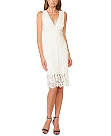 Allover-Lace Sheath Dress