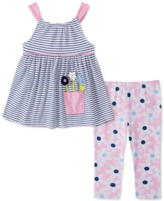 Kids Headquarters Girls Stripes Tunic Leggings