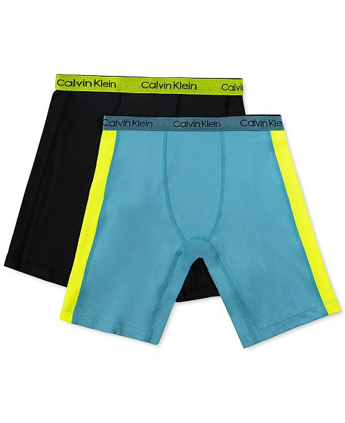 Calvin Klein Little & Big Boys 2-Pk. Long-Length Performance Boxer Briefs