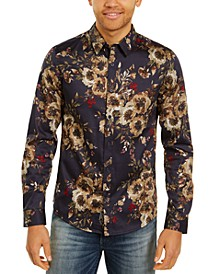 Men's Slim-Fit Tropical Print Shirt
