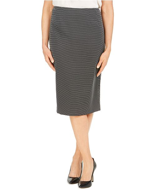 Kasper Pin-Dot Pencil Skirt