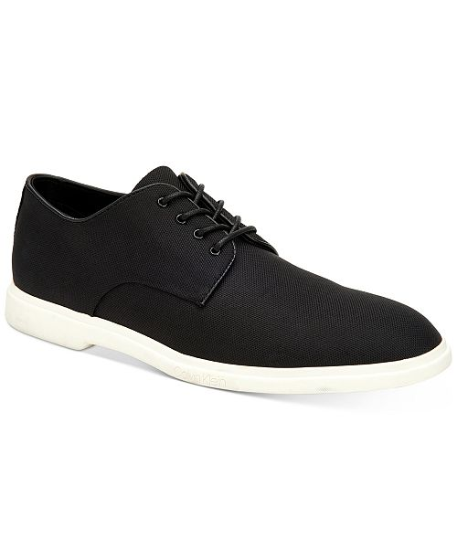 Calvin Klein Men's Theon Ballistic Nylon Oxfords