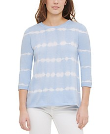 Cashmere Tie-Dyed Striped Top