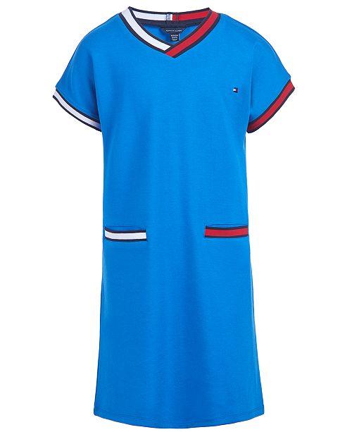 Tommy Hilfiger Big Girls Striped-Trim Dress