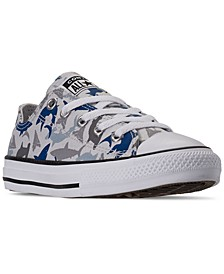 Little Boys Chuck Taylor All Star Shark Bite Ox Low Top Casual Sneakers from Finish Line