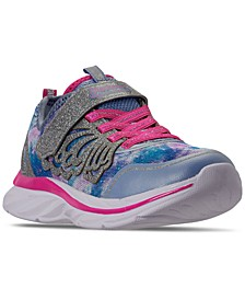 Little Girls Quick Kicks Fairy Glitz Stay-Put Closure Running Sneakers from Finish Line