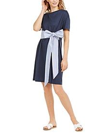 Bow-Front T-Shirt Dress