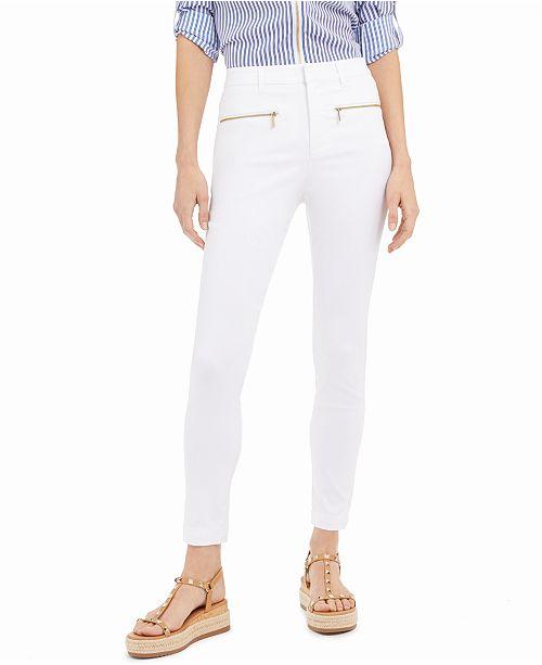 Michael Kors Zippered-Pocket Cropped Pants, Regular & Petite