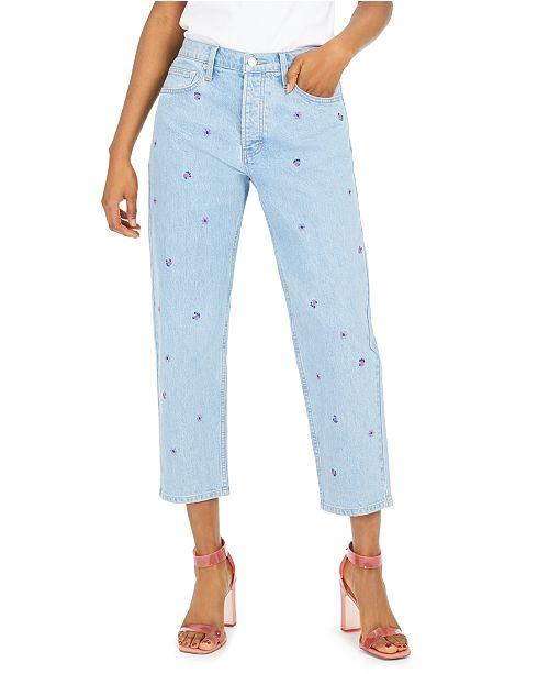 Lucky Brand Embroidered Relaxed Tapered Jeans