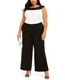Plus Size Colorblocked Jumpsuit