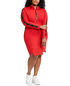 Lala Anthony Trendy Plus Size Bodycon Track Dress