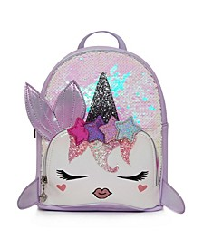 Toddler, Little and Big Kids Nelly Sequins Narwhal Mini Backpack