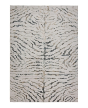 Closeout! Hotel Collection Bandipur Hb-20 Gray 4' x 6' Area Rug