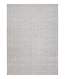 CLOSEOUT! Versal HV-23 Gray and Ivory 4' x 6' Area Rug