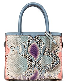 Spencer Snake-Embossed Satchel