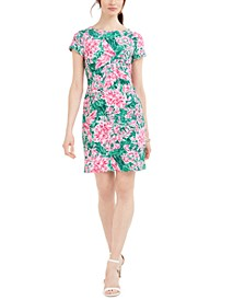 Victoria Floral-Print Sheath Dress