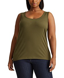 Plus Size Rib-Knit Tank