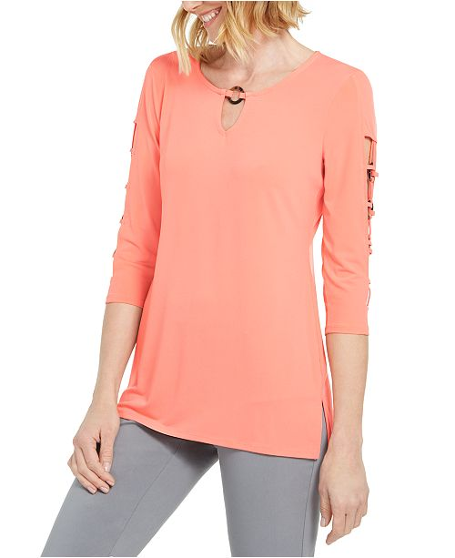 JM Collection O-Ring Lattice Top, Created for Macy's