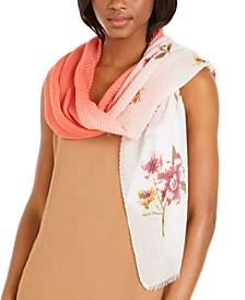 INC Ombré Pleated Floral Wrap, Created for Macy's